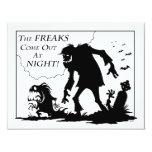 Freaks 4.25x5.5 Paper Invitation Card
