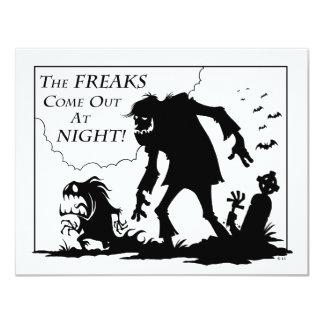 Freaks 4.25x5.5 Paper Invitation Card