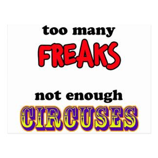 Freaks and Circuses Postcard