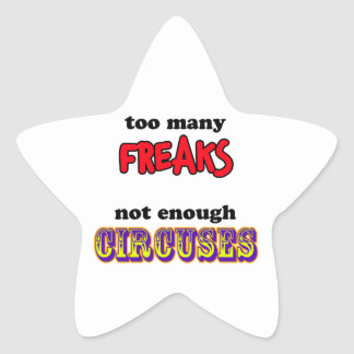 Freaks and Circuses Star Sticker