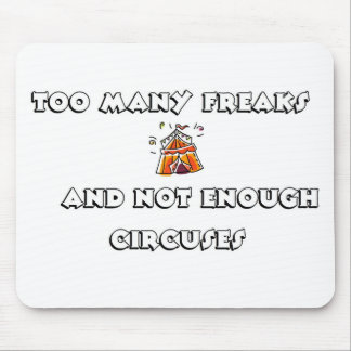 freaks circus mouse pad
