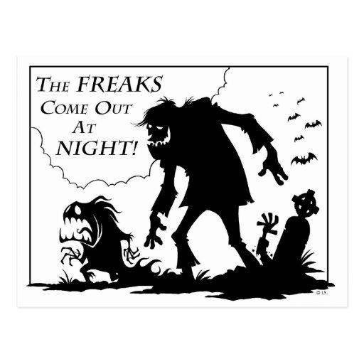 Freaks Postcard