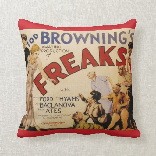 Freaks (Tod Browning, 1932) Throw Pillows
