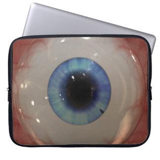 Freaky Blue Eye-ball Optometry Laptop Sleeve