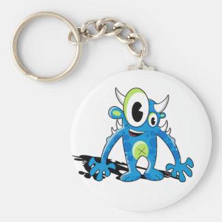 Freaky Blue Monster Keychain