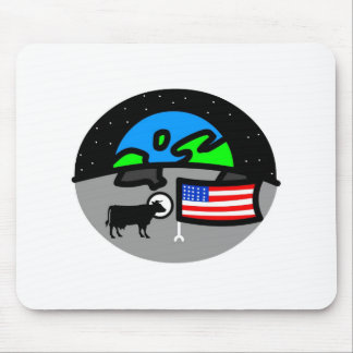 Freaky Cow_Moon Mouse Pad