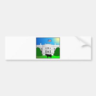Freaky Cow_White House Car Bumper Sticker