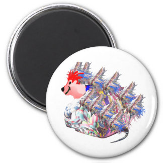 Freaky Franky 2 Inch Round Magnet