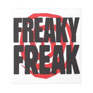 Freaky Freak Memo Notepad