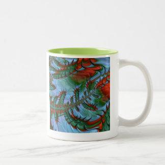 freaky friday red green Two-Tone coffee mug
