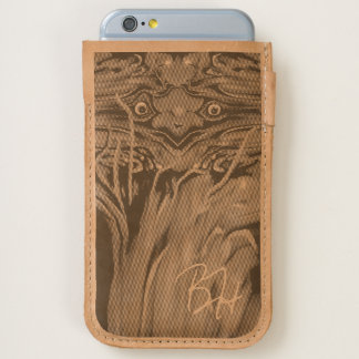 Freaky Grasshopper Monogram Leather iPhone 6/6S Case
