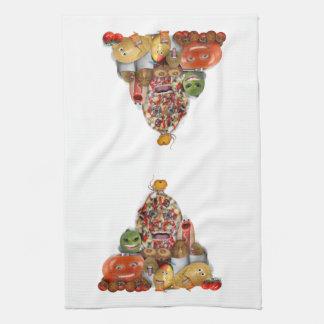 Freaky Junk Food Pyramid Hand Towel