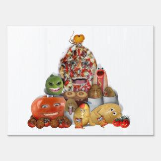 Freaky Junk Food Pyramid Signs