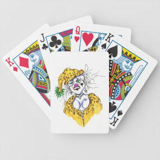 Freaky Lady Bicycle Playing Cards