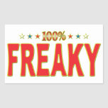 Freaky Star Tag Rectangle Stickers