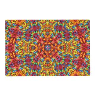 Freaky Tiki Kaleidoscope   Colorful Placemats