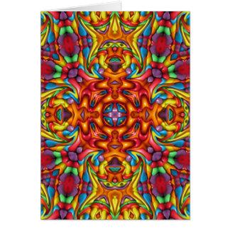 Freaky Tiki Kaleidoscope  Custom Greeting Cards