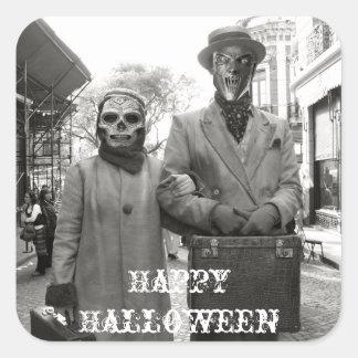 Freaky Vintage Couple Halloween Sticker