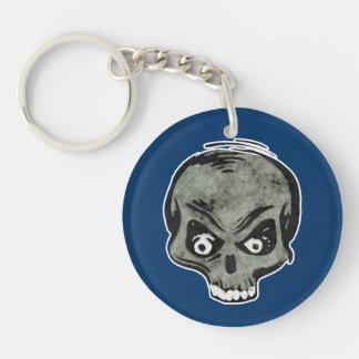 Freaky Weird Zombie Skeleton Halloween Dead Head Keychain