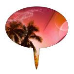 freams de la playa rojos figura para tarta