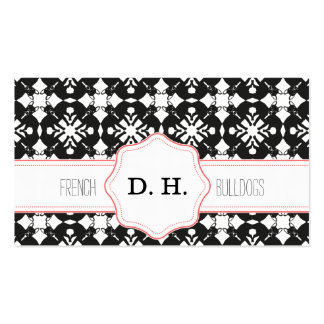 Freches Frenchie Muster Business Card
