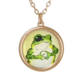 Freckle Frog Gold Plated Necklace