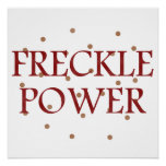 Freckle Power Poster