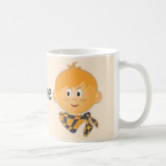 Freckled Boy with a Scarf Coffee Mug