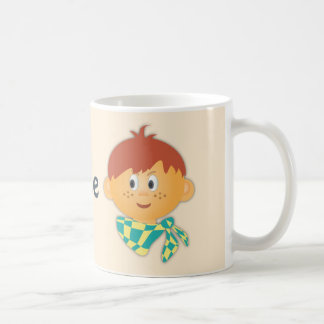 Freckled Boy with a Scarf Coffee Mugs