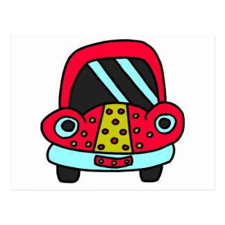 Freckled Car Postcard