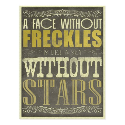 Freckles Are Beautiful Post Card