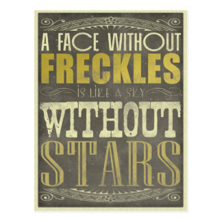 Freckles Are Beautiful Postcard