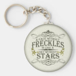 Freckles are Cute Basic Round Button Keychain