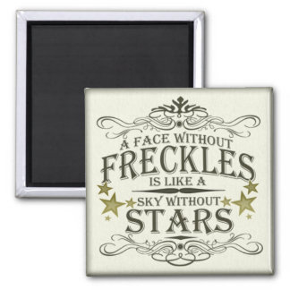 Freckles are Cute Refrigerator Magnet