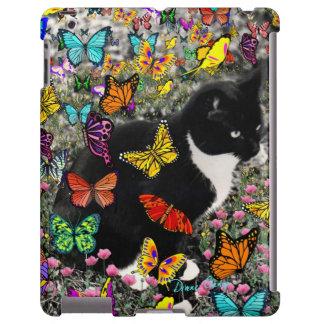 Freckles in Butterflies I, Tux Kitty Cat