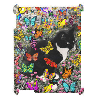 Freckles in Butterflies I, Tux Kitty Cat Cover For The iPad 2 3 4