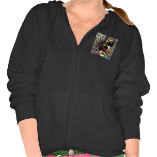 Freckles in Butterflies I, Tux Kitty Cat Sweatshirts