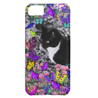 Freckles in Butterflies II - Tux Kitty Cat iPhone 5C Cases