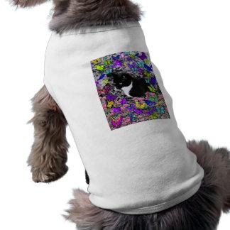 Freckles in Butterflies II - Tux Kitty Cat Shirt
