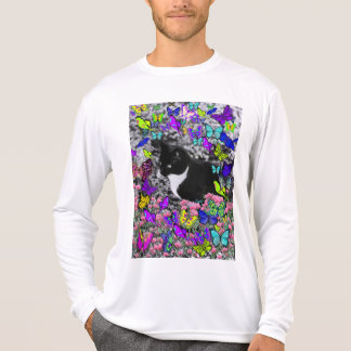 Freckles in Butterflies II - Tux Kitty Cat T-shirts