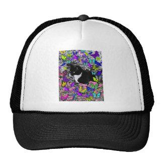 Freckles in Butterflies II - Tux Kitty Cat Trucker Hat