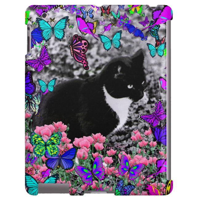 Freckles in Butterflies II - Tuxedo Cat
