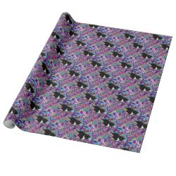 Freckles in Butterflies II - Tuxedo Cat Gift Wrap