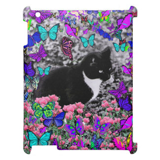 Freckles in Butterflies II - Tuxedo Cat iPad Cases