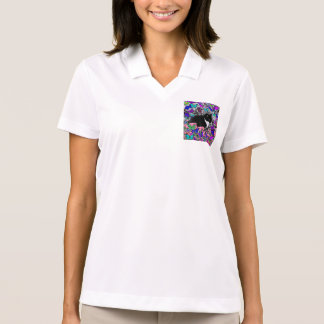 Freckles in Butterflies II - Tuxedo Cat Polo Shirt