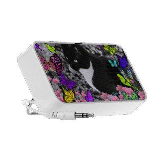 Freckles in Butterflies II - Tuxedo Cat iPod Speakers