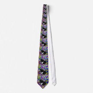 Freckles in Butterflies II - Tuxedo Cat Tie