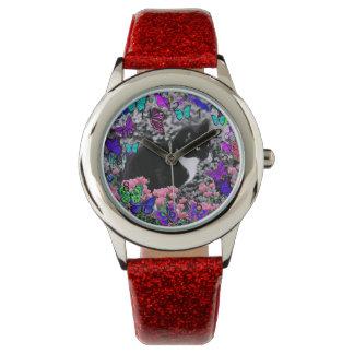 Freckles in Butterflies II - Tuxedo Cat Watch