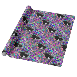 Freckles in Butterflies II - Tuxedo Cat Gift Wrap Paper