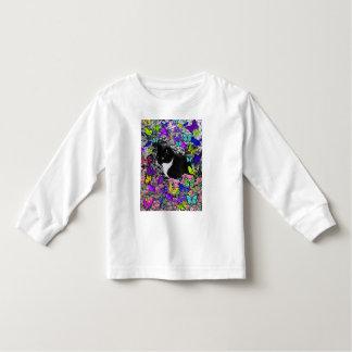 Freckles in Butterflies II - Tuxedo Kitty Toddler T-shirt